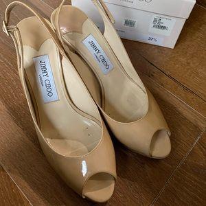 Jimmy Choo Nova Nude Patent Heel 37.5